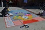 Gorgeous chalk art adorned the sidewalk.