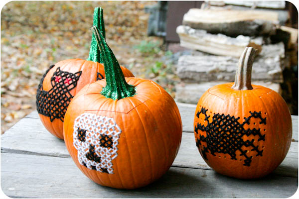 How-To: Cross-Stitched Pumpkins