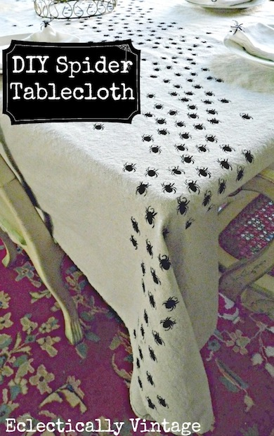 How-To: Halloween Spider Tablecloth