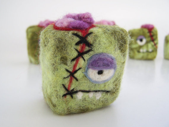 Felted Zombie Soap