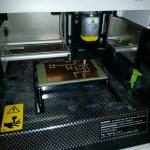 iModela iM-01 cutting a custom PCB