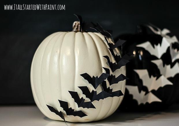 How-To: Bat-Embellished Pumpkins