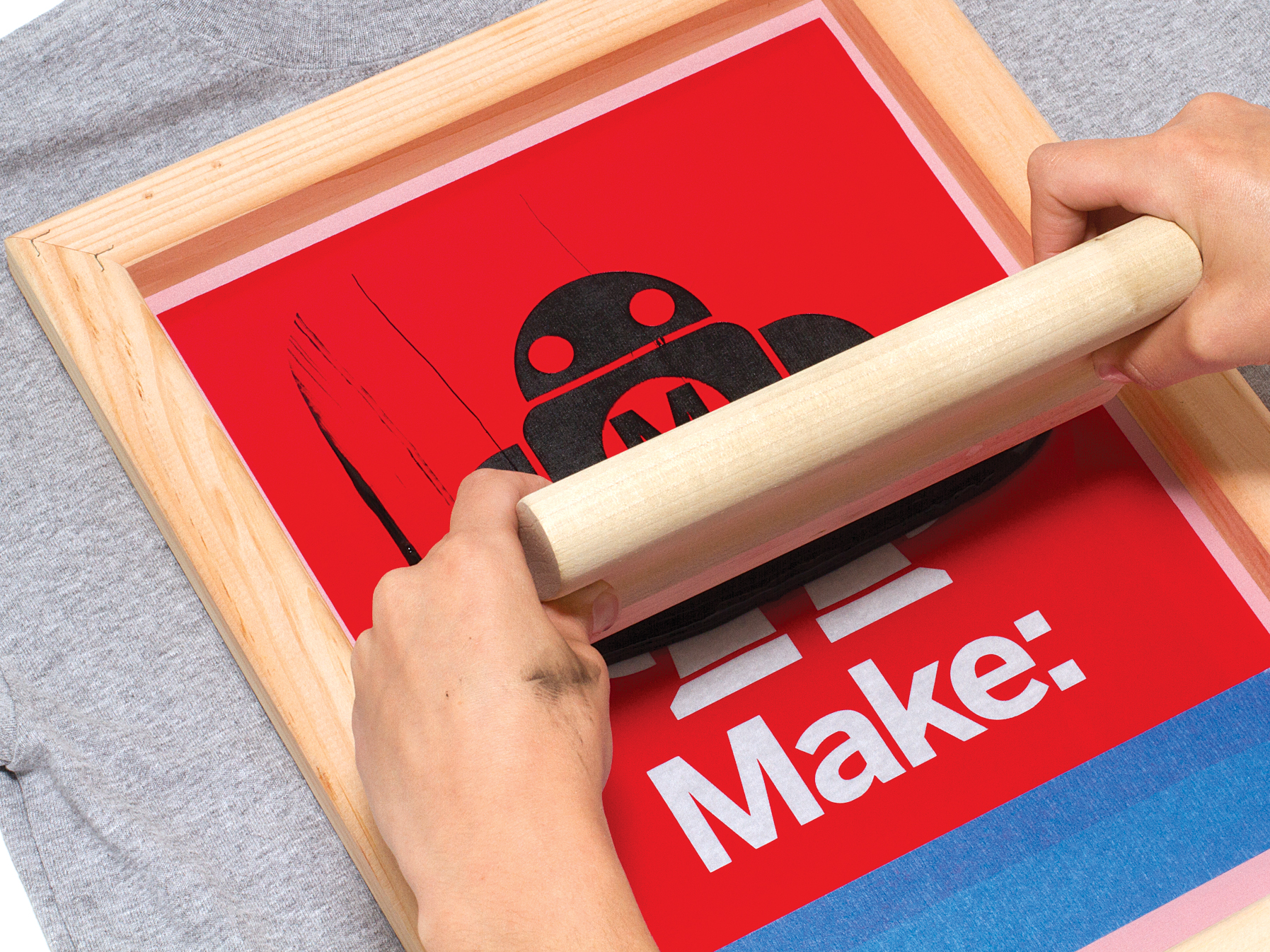 8c5c7faa Simple Silk-Screen Printing Using a Vinyl Cutter | Make: