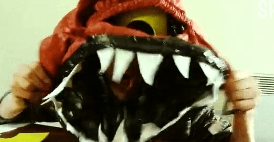 Make a Scary Bag Monster Hat