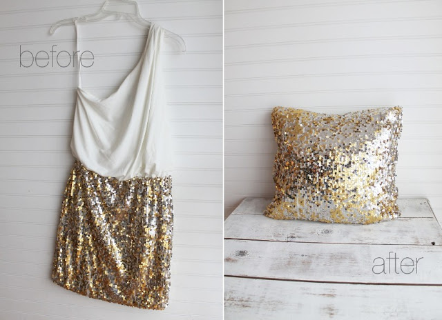 Upcycled Sequin Pillow