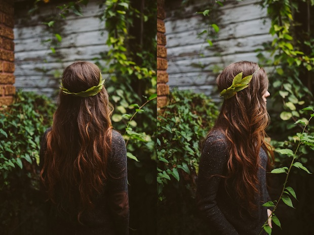 How-To: Fall-Inspired Leaf Crown