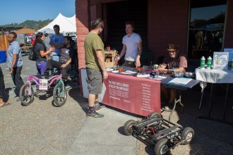 The Chimera Arts makerspace making an appearance at the fair showing off their printers, robots and custom 4 wheelers.