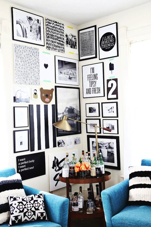 How-To: Style a Corner Gallery Wall
