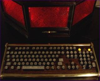 Close-up of the Archbishop keyboard