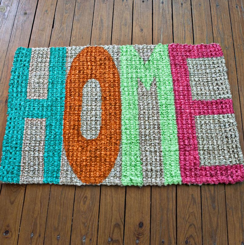 Make a Hand Painted Doormat
