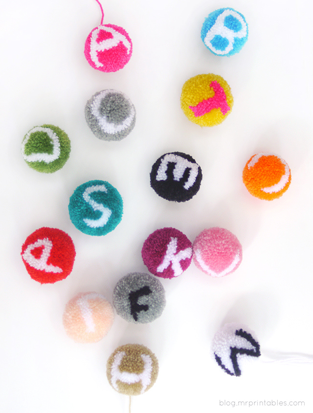 How-To: Alphabet Pompoms