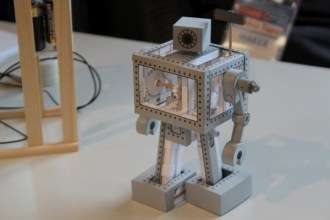 Mechanical Paper Model that actually walks. Even the gears are made from paper.