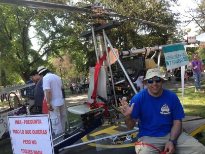 Fernando Cespedes and his in-progress flying machine