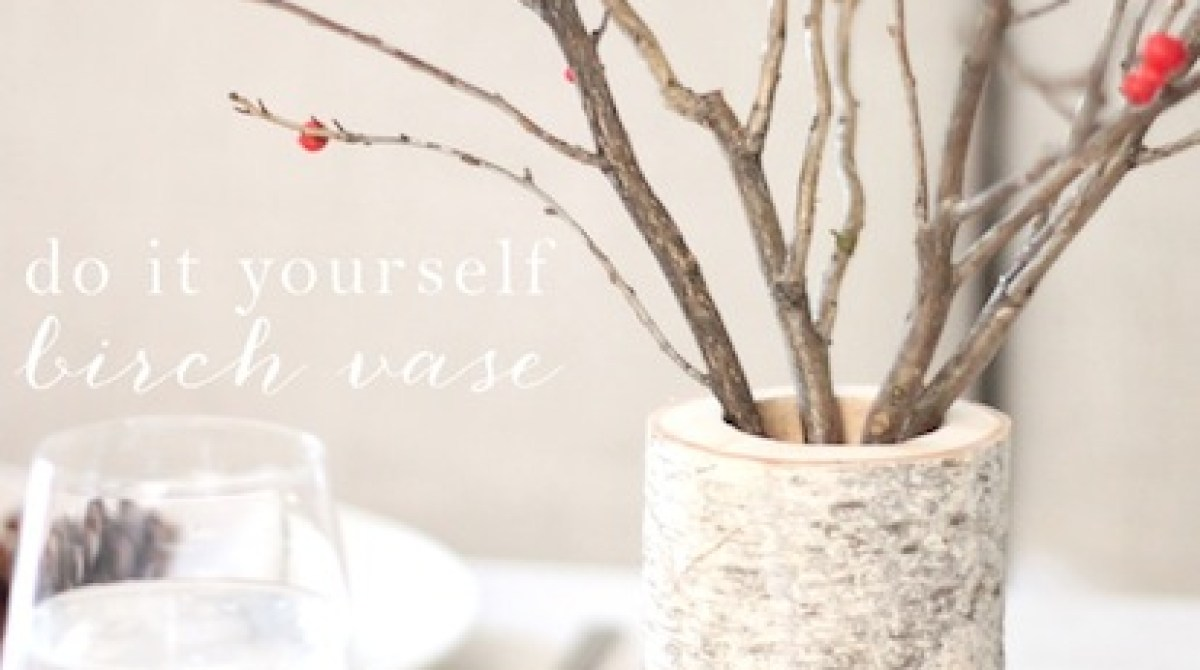 How-To: DIY Birch Wood Vase