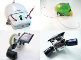 This awesome set of four robotics projects includes all the electronic parts you need to build Mousey the Junkbot, a BEAM Trimet and Solar Roller, and a Beetlebot. You will need to supply some easy to find additional parts. The bundle saves over $20 compared to buying these kits separately. Build instructions are on linked from the Maker Shed page under the How-To tab.