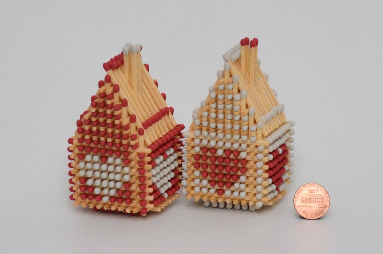 Vitalijs Markuns' Traditional Matchstick Houses
