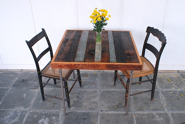 How-To: Reclaimed Wood Card Table Makeover