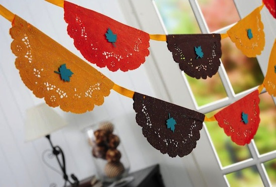 How-To: Thanksgiving Doily Bunting