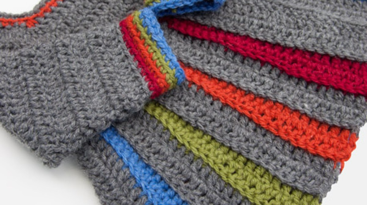 7bed52b2b How-To  Crocheted Rainbow Baby Sweater
