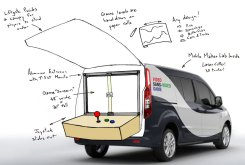 """""""A giant video game. On wheels. Without video. WHAT? Video Sans-Video Game is a """"video game"""" using computer numeric control (CNC) to drive the action. Player's side-scroll their way through game levels..."""" See more of this Ultimate Maker Vehicle: http://bit.ly/umvvsvg"""