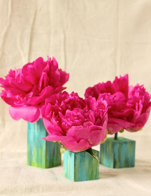 Watercolor Bud Vases
