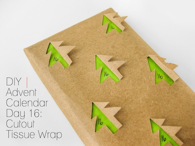 How-To: Cutout Tissue Paper Gift Wrap