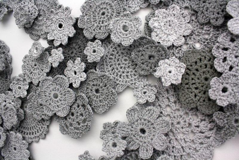 Crocheted Flowers Installation
