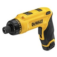 The new Dewalt 8V cordless gyroscopic screwdriver is controlled by twisting your wrist in the direction you want the attached bit to turn. The faster you twist, the faster it turns. The torque-limiting clutch and 2-position handle make it well suited for projects that involve a lot of small fasteners. Dewalt 8V Gyro Screwdriver Review (via ToolGuyd)