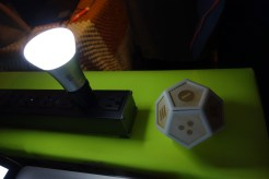 """Glyphs on the dodecahedron correlate to the light's """"mood"""" emitted from the Hue bulb. Look for this project to be Kickstarted sometime in the future!"""