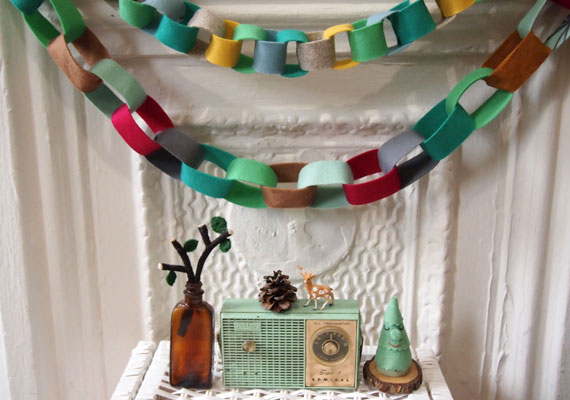 How-To: Colorful No-Sew Felt Garland