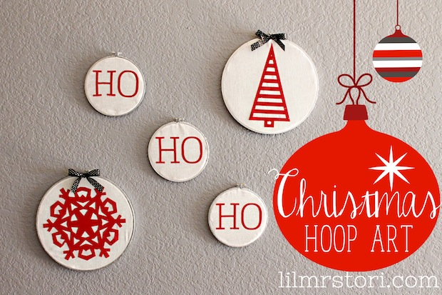 How-To: Christmas Embroidery Hoop Art