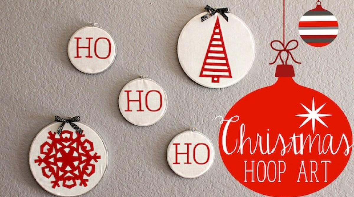 How To Christmas Embroidery Hoop Art Make