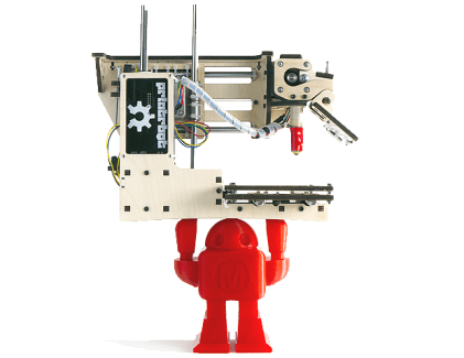 """It's easy to fall in love with the Printrbot Simple, crowned """"Best Value"""" in our testing this year. The Simple gets you started in the world of 3D printing, without spending a bundle. This printer has a small footprint and can printing up to a 4"""" cube using PLA filament (1.75mm.) Available in both kit form and assembled form for those that just want to get printing. Check out our PrintrBot Simple review for additional details."""