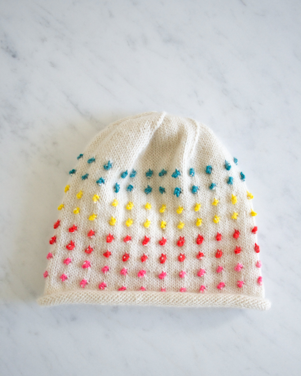 How-To: Knit Button Candy Hat