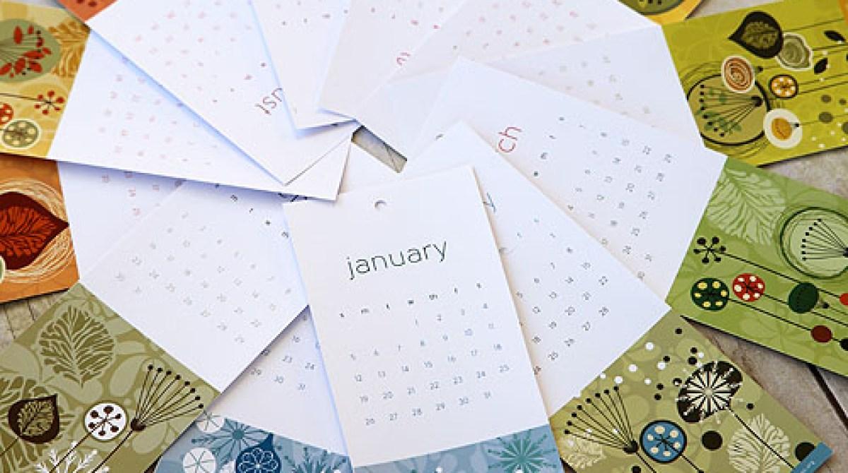 Gorgeous Free Printable 2014 Calendar