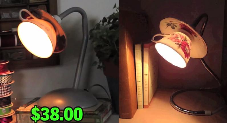 Man Vs. Pin: DIY Tea Cup Lamp