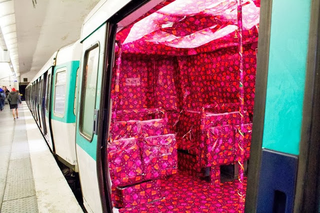 Gift Wrapped Subway Car