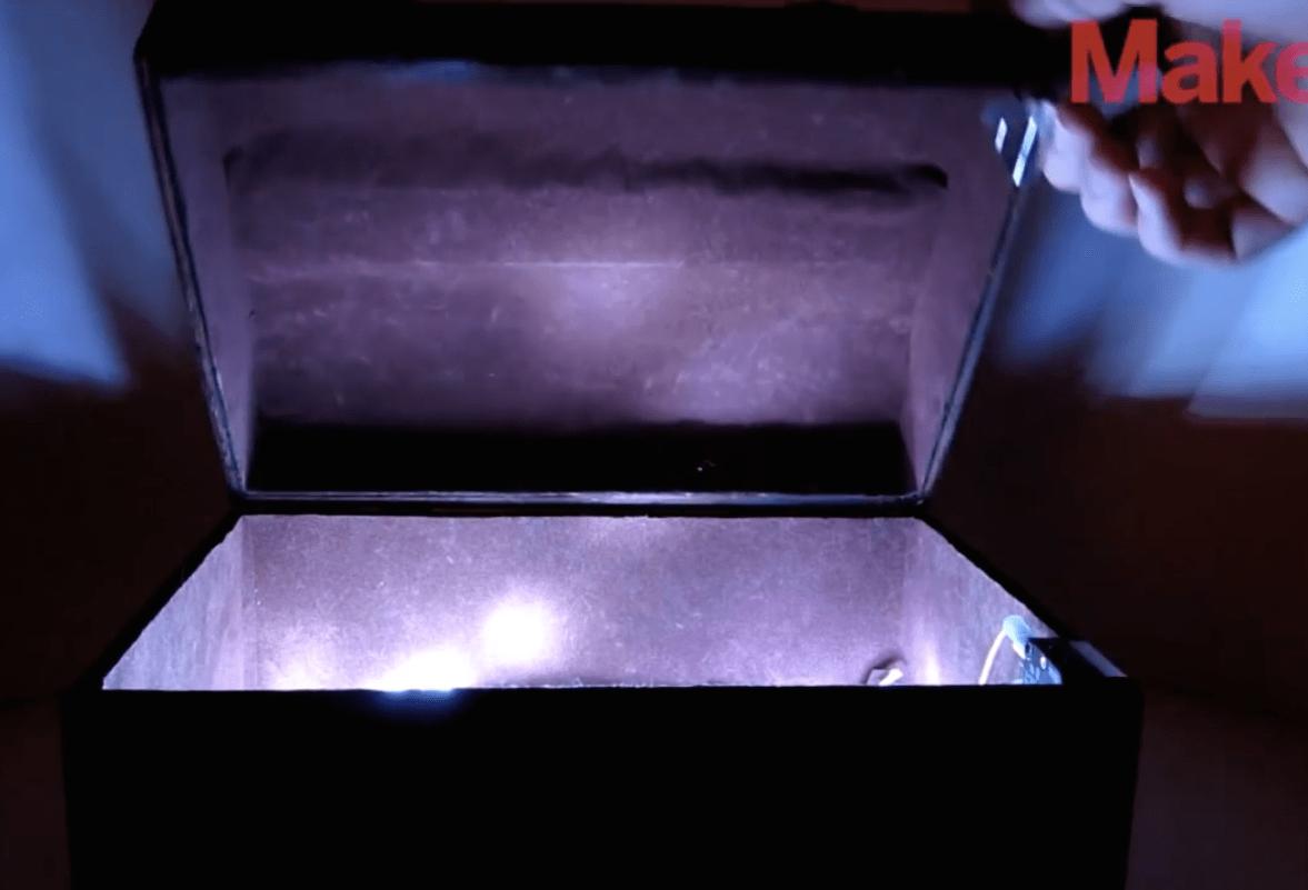 DIY Hacks & How Tos: Glowing Treasure Chest