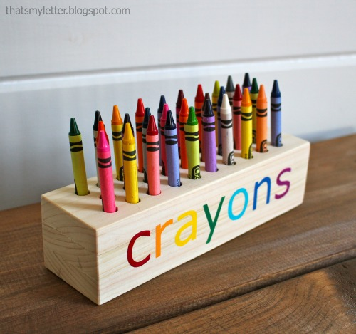 How-To: Wood Block Crayon Holder