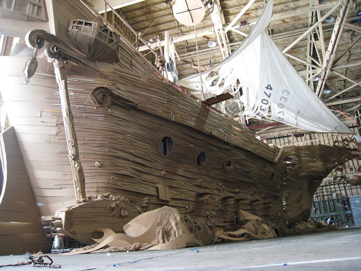 Life-Sized Pirate Ship from Cardboard