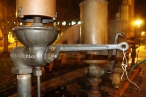 Lunkenheimer valve and row of whistles