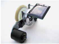 A little solar-powered race car made from techno-junk. Click here to build this bot.