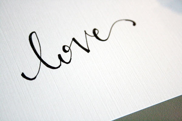 How-To: Faux Calligraphy Hand-Lettering