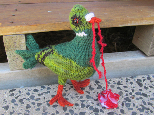 Knitted Zombie Pigeon