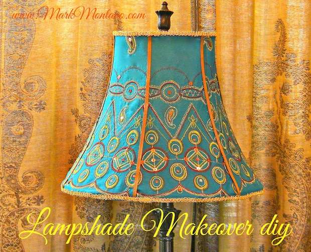 How-To: Metal Frame Lampshade Makeover