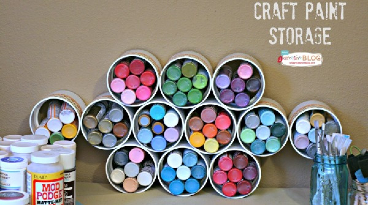 How-To: PVC Pipe Craft Supply Storage