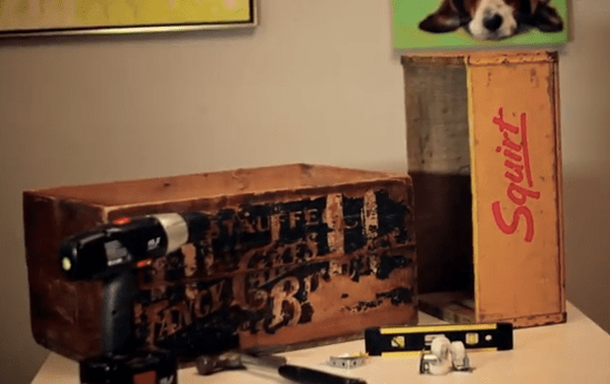 How-To: Create Shelving from Vintage Crates