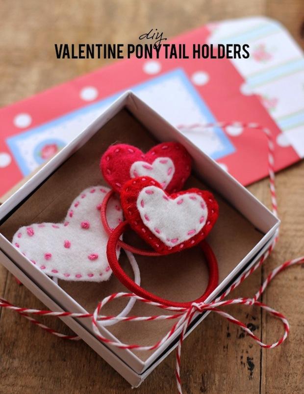 How-To: Felt Heart Ponytail Holders
