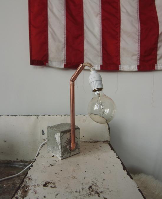 Copper + Concrete Lamp