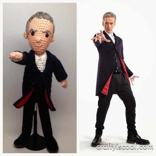 Geek Crafts: Crocheted Twelfth Doctor